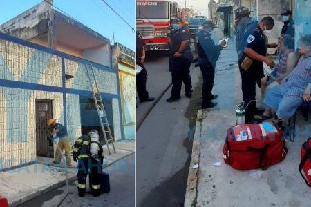 Mañanero incendio en una vivienda del centro de Mérida