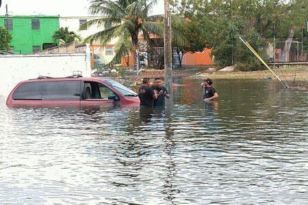 Grave inundación en la colonia Morelos Fovissste