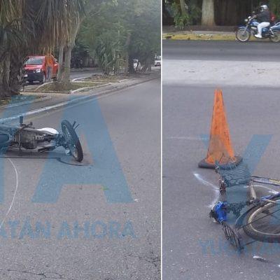 Abuelo enfiestado causa accidente con dos heridos, en la avenida Itzaes