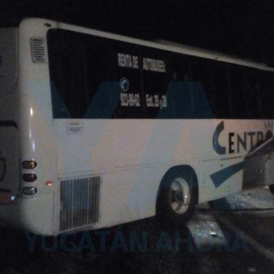 Le fallan los frenos a un autobús en la carretera Izamal-Valladolid: nueve lesionados