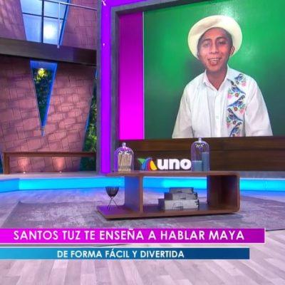 Santos Tuz enseña maya en Venga la Alegría