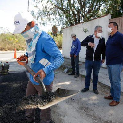 Vecinos de Nueva Salvador Alvarado Sur ya no tienen que esquivar baches