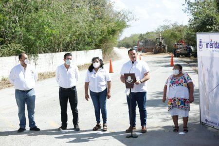 Modernizan camino que une la comisaría de Xcunyá con la carretera a Progreso