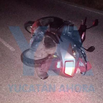 Motociclista derrapa y pierde la vida