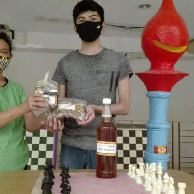 Miel maya para promover la salud y fomentar el ajedrez por internet