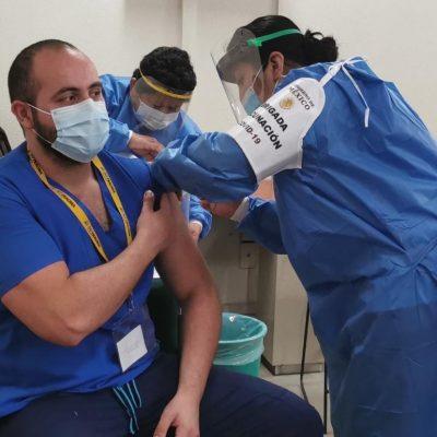 El martes llegan más vacunas para el personal de salud de Yucatán