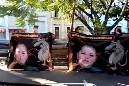Morenistas marchan contra Verónica Camino, Pérez Moguel y Mex Albornoz