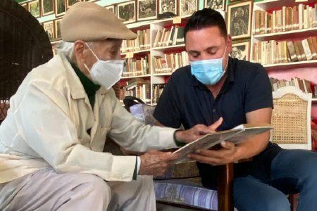 Oscar de la Hoya sorprende con visita al yucateco Jesús 'Cholaín' Rivero