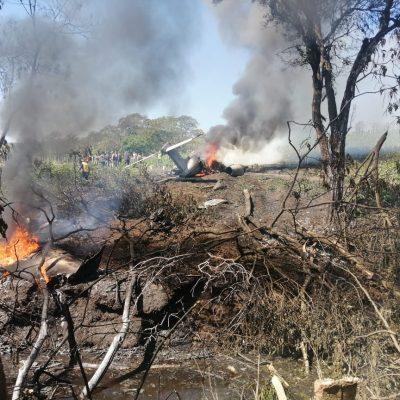 Se desploma Learjet de la Fuerza Aérea en Xalapa, Veracruz: siete muertos