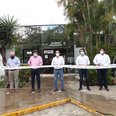 Inaugura el gobernador Mauricio Vila la Ventanilla Única Estatal en Tizimín