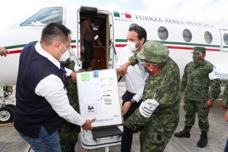 Llegan a Yucatán 10,725 vacunas para la segunda dosis a personal de salud