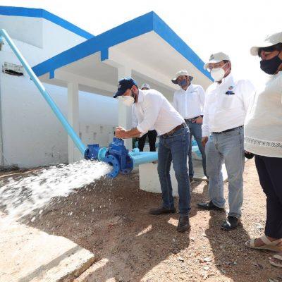 Con el apoyo del Gobierno del Estado, Celestún tiene mejor servicio de agua potable