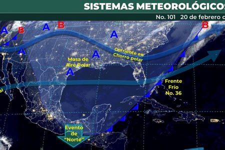 Dos días más de heladez: masa de aire frío sigue sobre la Península de Yucatán