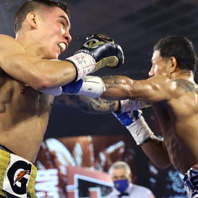 Óscar Valdez derrota por KO al Alacrán Berchelt y es el nuevo campeón del mundo