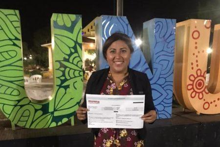 Marlene Martín Gío se registra como aspirante de Morena a la alcaldía de Hunucmá