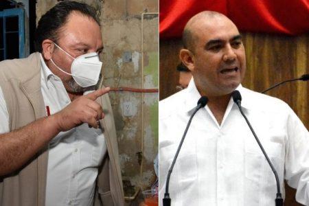 Haciendo 'pesadeces', hijo de Cervera Pacheco y dirigente priista logran pluris