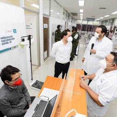 Hoy llegan vacunas para la segunda dosis al personal de salud de Yucatán