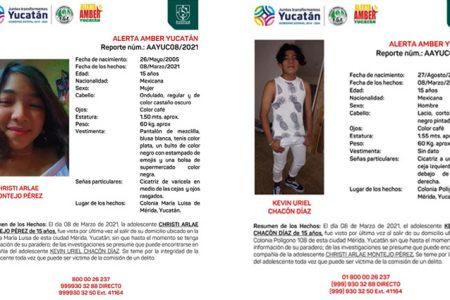 Desaparecen dos adolescentes en Mérida; emiten Alerta Amber para localizarlos