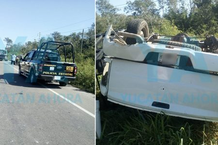 Empresario yucateco rescata a conductora que sufrió aparatosa volcadura