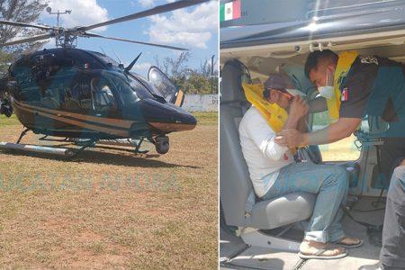 Hasta con helicóptero de la SSP buscan lancha con tres pescadores que no retornó a Celestún