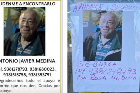 Piden ayuda para buscar a abuelito desaparecido desde hace 12 días en Ciudad del Carmen