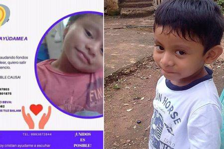 Piden ayuda para Cristian, niño de Xcan que requiere un implante coclear para poder escuchar