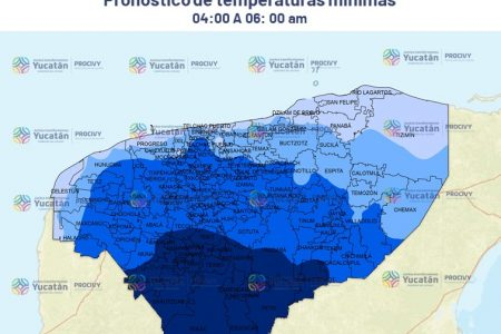 Este jueves llega el frente frío 47, se esperan temperaturas de 13 a 15 grados, alerta Procivy