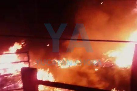 Se incendia una granja en Kanasín por causas desconocidas