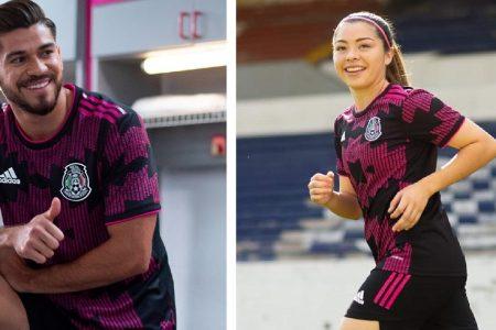 Henry Martín modela el nuevo uniforme de la selección mexicana