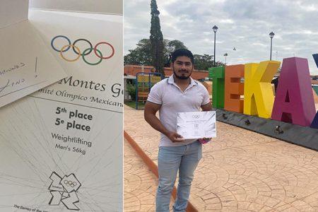 Lino Montes recibe reconocimiento de 5to lugar en Juegos Olímpicos de Londres 2012