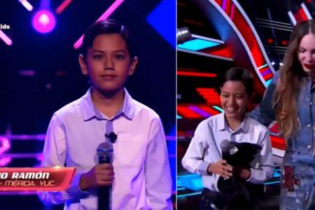 Mario Ramón, niño yucateco, pasa la audición en la Voz Kids y se va con Belinda