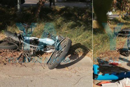 Choque de motos en el Periférico: un lesionado