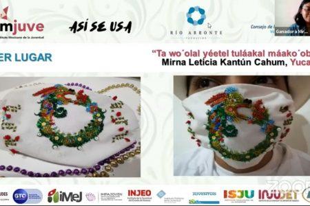 Yucatecas ganan concurso nacional de diseño de cubrebocas