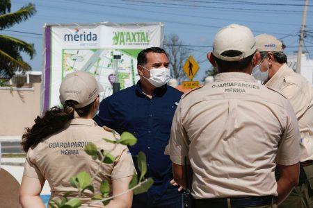 Espacios públicos de Mérida, más seguros gracias a los guardaparques: Renán Barrera