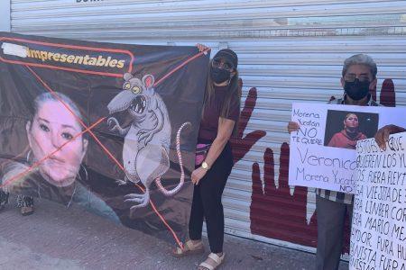 Nueva protesta de morenistas de Yucatán por imposiciones del centro