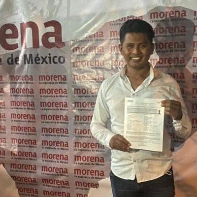 Ernesto Alonzo solicita su registro como candidato de Morena a la alcaldía de Río Lagartos