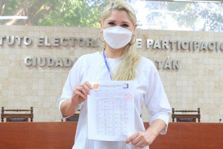 Se registra Verónica Camino Farjat como candidata de Morena a la alcaldía de Mérida