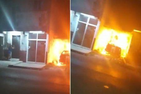 Dramático incendio rompe la tranquilidad de la madrugada en Progreso