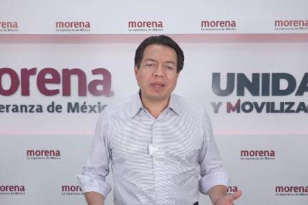 """El INE busca """"a la mala"""" bajar 60 candidaturas de Morena, denuncia Mario Delgado"""