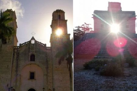 Reportan fenómeno de luz y sombra en la iglesia católica de Espita