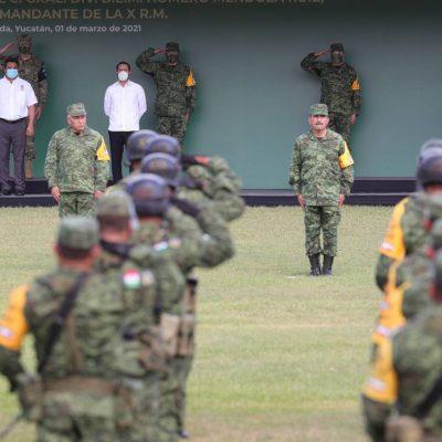 Nuevo comandante en la X Región Militar: general Homero Mendoza Ruiz