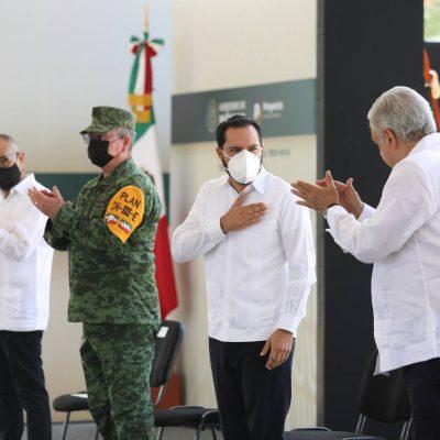 Mauricio Vila es un aliado en Yucatán que hace un trabajo serio, responsable y con dimensión social: AMLO