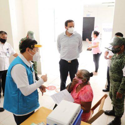 Inicia vacunación de adultos mayores en Temozón, Progreso y Tixkokob
