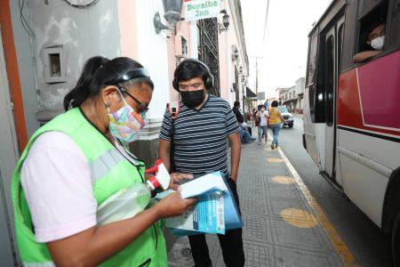 Usuarios contentos con el acercamiento de paraderos en el centro de Mérida