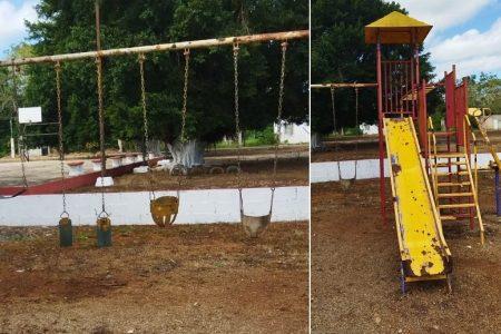 ¿Dónde jugarán los niños… si lo juegos infantiles están rotos y oxidados?