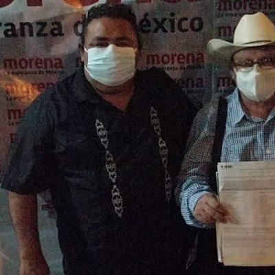 El ganadero Wilmer Monforte Marfil se registra como candidato de Morena a diputado del X Distrito