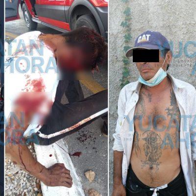 Con engaños, tres sujetos asaltan con violencia a un hombre: dos detenidos