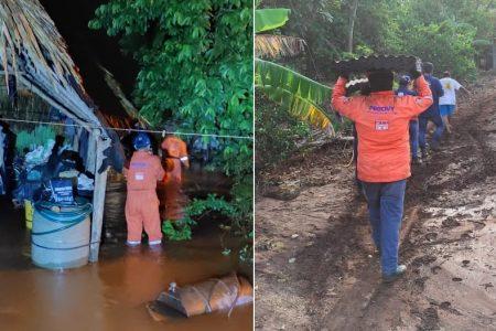 Lluvias del frente frío 51 causan inundaciones en el sur de Yucatán: ejidos de Tekax, lo más afectados