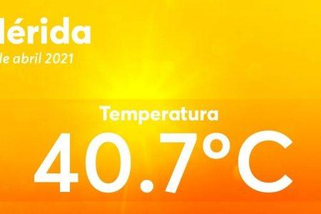 Se 'aquieta' un poco el calor en Mérida: hoy 'solo' fueron 40.7 grados