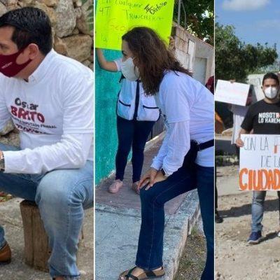 PAN, Movimiento Ciudadano y Morena arrancan sus campaña federales; el PRI, dormido en sus laureles